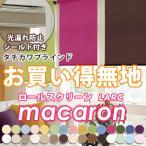 ロールスクリーン ロールカーテン タチカワブラインド ラルク マカロン シングル 標準タイプ シールドあり 幅25〜49cm 高さ30〜49cm
