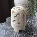 アジアン雑貨 バリ島のパラス石のキャンドルホルダー スタンド キャンドルランタン