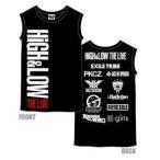HIGH&LOW THE LIVE ノースリーブ ツアー Tシャツ 黒 ブラック