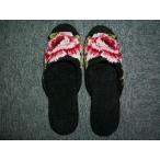 エトワール 婦人用花柄ヒールスリッパ 842-120 15-57 Sサイズ(22cm程度) ブラック