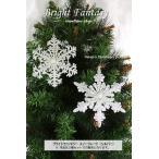 ブライトファンタジースノーフレーク(シルバー)2種セット クリスマス オーナメント 飾り 装飾 CHRISTMAS X'mas