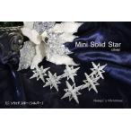 クリスマス オーナメント ミニソリッドスター(シルバー)6個入 飾り 装飾 CHRISTMAS X'mas ornament クリスマスオーナメント