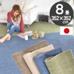 カーペット 防カビ 抗菌 防ダニ 8畳 アース製薬 防虫 子供部屋 キッズスペース 赤ちゃん ラグカーペット 床暖対応 フリーカット スミティーマ