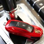 ポルシェ カレラ 911 ケイマン パナメーラ スマートキーカバー 高級 リアル スマートキーケース 純正適合 保護カバー キーレスカバー キーケース