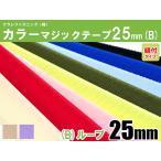 クラレファスニング(株)カラーマジックテープ ニューエコマジック color25mm巾/縫付タイプ/B:ループ(メス)/8色
