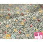 小さな木の実と植物柄 60sローン 優雅で上品な印象の薄手生地 Handworks*Fabrics 生地 布 SC10277S 数量3(30cm)から10cm単位