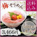 紀州南高梅素麺 紅の絲(べにのいと)詰合せ 中田食品 お中元 素麺  梅そうめん ギフト 梅 送料込み