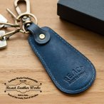 RE.ACT リアクト 藍染 Leather Shoehorn Key Holder  靴べら 日本製 本革 ギフト プレゼント