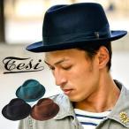 ショッピングイタリア Tesi(テシ)ウールフエルトリボン中折れハット帽子ハット中折れ帽フェルトリボン上質イタリアカジュアルキレイめシンプルメンズレディース男女兼用