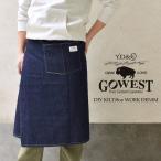 GOWEST ( ゴーウェスト ) DIY KILT/8oz WORK DENIM キルト デニム エプロン メンズ スカート レディース