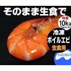 ボイルエビ 活〆有頭えび 生食用 冷凍 業務用 10kg(1kg10pc) 送料無料