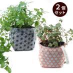 ガーデニング用プランターカバー 園芸用品 uchi-green  2個セット 麻の葉&籠目