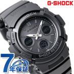 G-SHOCK ブラック 電波 ソーラー CASIO AWG-M100B-1ACR アナデジ 腕時計 カシオ Gショック オールブラック 時計
