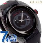 グッチ 時計 スイス製 メンズ 腕時計 YA137107A GUCCI シンク 46mm オールブラック×マルチカラー