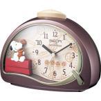 スヌーピー 目覚まし時計 置時計 からくり スヌーピーR506 4SE506MJ09 【クオーツ】