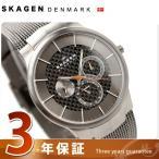 スカーゲン 腕時計 メンズ マルチファンクション チタン カーボンブラック×グレー 809XLTTM