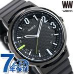 セイコー ワイアード WW ツーダブ Bluetooth メンズ レディース 腕時計 AGAB406 SEIKO WIRED TYPE 02 オールブラック 時計