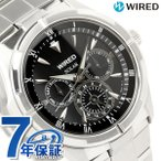 セイコー ワイアード ソーラー マルチカレンダー メンズ 腕時計 SEIKO WIRED ブラック AGAD032