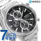 セイコー ワイアード SEIKO WIRED クロノグラフ メンズ 腕時計 AGAT424 ニュースタンダード ブラック