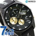 先着順!1,000円割引クーポン! セイコー ワイアード コジマプロダクション 限定モデル メンズ 腕時計 AGAT729 SEIKO WIRED ブラック×ゴールド