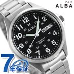 本日さらに+4倍でポイント最大21倍! セイコー アルバ メンズ 腕時計 カレンダー チタン AQPJ402 SEIKO ALBA クオーツ ブラック