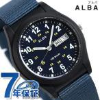 ポイント最大10倍 セイコー アルバ メンズ レディース 腕時計 カレンダー ナイロンベルト AQPJ409 SEIKO ALBA ネイビー