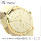機械式腕時計 スモールセコンド 腕時計 自動巻き アイボリー レザーベルト B-Barrel BB0045GP-4