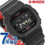 ポイント最大10倍 G-SHOCK ブラック & レッド アラーム メンズ 腕時計 DW-5600HR-1DR Gショック