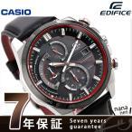 カシオ エディフィス メンズ 腕時計 クロノグラフ ソーラー EQS-600BL-1ADF CASIO EDIFICE 革ベルト