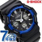 ショッピングg-shock ブラック G-SHOCK ベーシック 電波ソーラー メンズ 腕時計 GAW-100B-1A2ER Gショック ブラック×ブルー