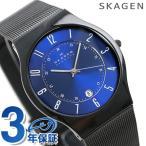 スカーゲン 腕時計 メンズ チタニウム オールブラック/ブルー T233XLTMN