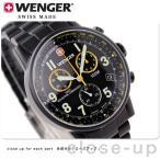 ウェンガー WENGER 腕時計 クロノグラフ コマンドクロノ オールブラック メタル 70705XL