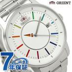 オリエント 腕時計 スタイリッシュ&スマート 自動巻き メンズ ディスク ホワイトレインボー ORIENT WV0821ER