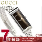 GUCCI - 【あすつく】GUCCI グッチ 時計 Gフレーム レディース ブラウン YA127501