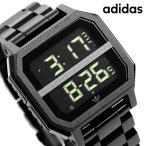 アディダス adidas 時計 デジタル メンズ レディース 腕時計 Z21001-00 オールブラック