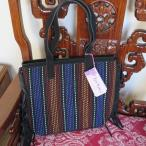 ipa-nima:イパニマ デザイナーズブランドバッグ アジアン スウェードフリンジトートバッグ 黒+黒柄