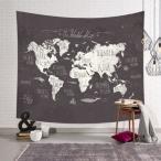世界地図 インディアン タペストリー マンダラ 壁装飾 テーブルクロス 150×130センチ #2