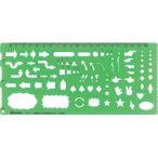 【シンワ測定】製図用品 テンプレート 矢線記号定規【TL�1 105X230MM】
