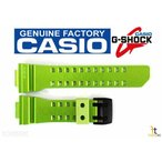 カシオ 腕時計パーツ CASIO G-SHOCK G'Mix GBA-400-3BV Original Green Rubber Watch Band Strap