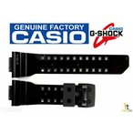 カシオ 腕時計パーツ CASIO G-SHOCK G'Mix GBA-400-1A9 Original BLACK (GLOSSY) Rubber Watch Band Strap