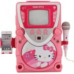 おもちゃ ディズニー Hello Kitty 68109 CD Karaoke System with Screen, Pink/White 海外直輸入品