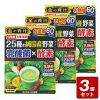 《お買い得3個セット》金の青汁25種の純国産野菜 乳酸菌×酵素 210g(3.5g×60パック)×3個セット【お買い得商品】
