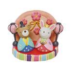 おひなさまノーティー セット クマ&ウサギ 4007184-03