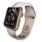 エレコム Apple Watch 40mm フルカバーフィルム 衝撃吸収 防指紋 高光沢 2枚入