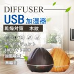 USB加湿器 次亜塩素酸水対応 超音波式 噴霧器 車載 木紋 卓上 車載 乾燥対策 LEDライト ディフューザー 空気洗浄機 アルコール消毒 消毒 携帯