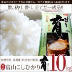 こしひかり コシヒカリ 富山県産 10kg 普通米 無洗米 育 はぐくみ 28年度産 新米