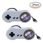 ゲームパッド 8ボタン スーパーファミコン USB接続 高耐久ボタン 超ミニ 気軽 小型 人間工学 2セット