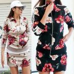 ゴルフウェア レディース セットアップ スカート 花柄 ジャケット