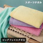 タオル ビッグフェイス 軽量 細い糸 ふわふわ 110cm丈 送料無料 ポイント消化 ハンドタオル1枚付き