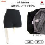 日本製 スパッツ 1分丈 黒 チャコール 透け難い綿80%素材 レギンス スポーツウェアー 冷え性対策 ヨガウエア
